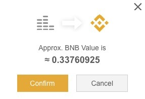 Binance'de Dust Çevirimi