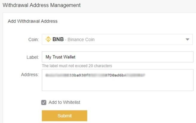 Para Çekme Adresi Beyaz Listesi