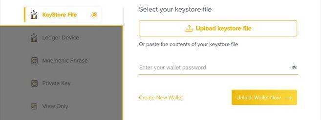 Binance DEX: Toegang tot uw Wallet