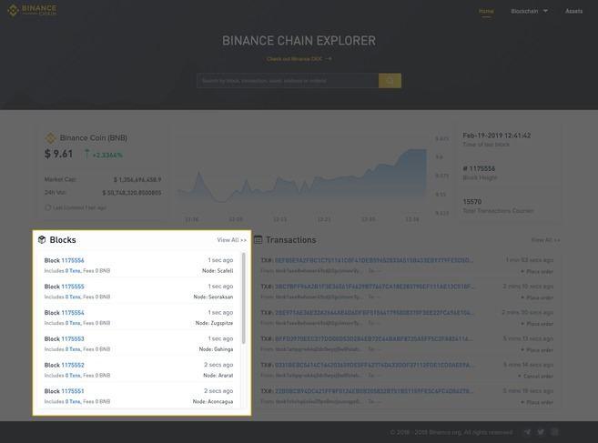 Hướng dẫn sử dụng Binance Chain Explorer