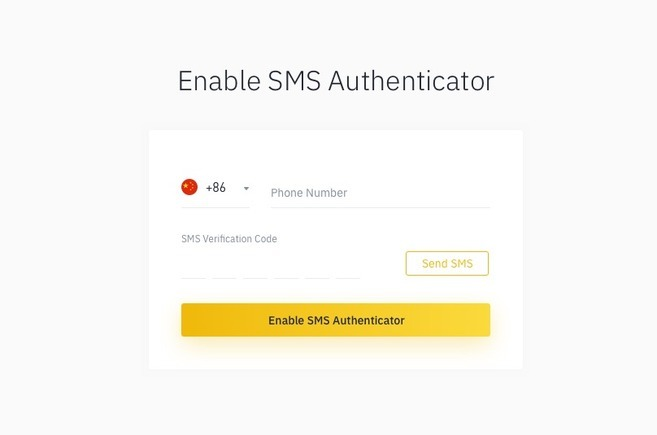 Setting up SMS Authentication