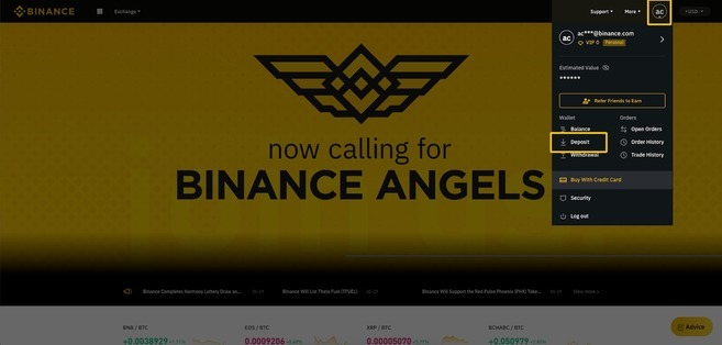 How to Deposit on Binance