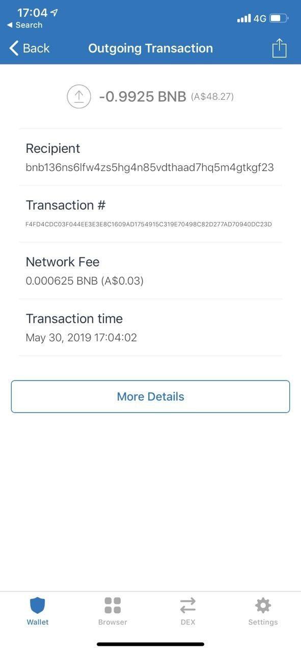 Cách gửi tiền trên Binance