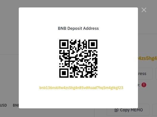 Как внести депозит на Binance