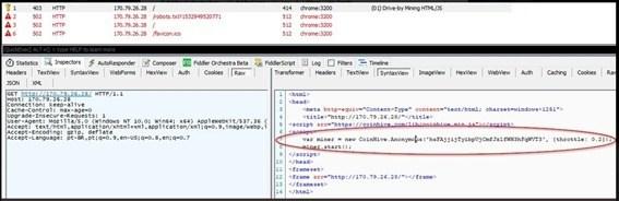 MikroTikルーター内に挿入されたCoinHiveのコード