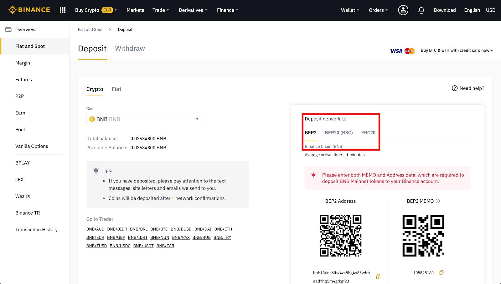 binance bitcoin conferma contanti)