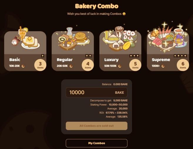 BakerySwap NFT Combo'ları