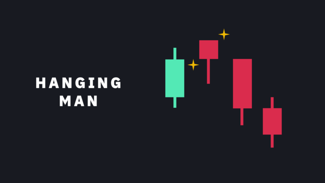 Bearish reversal candlestick pattern - Hanging man