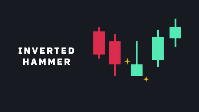 Bullish reversal candlestick pattern - inverted hammer