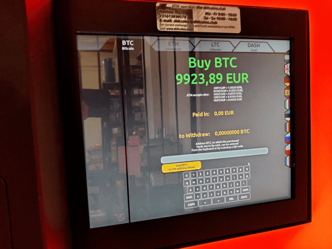 Buying BTC with a Bitcoin ATM