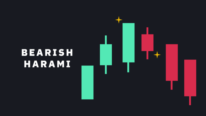 Bearish reversal candlestick pattern - Bearish Harami
