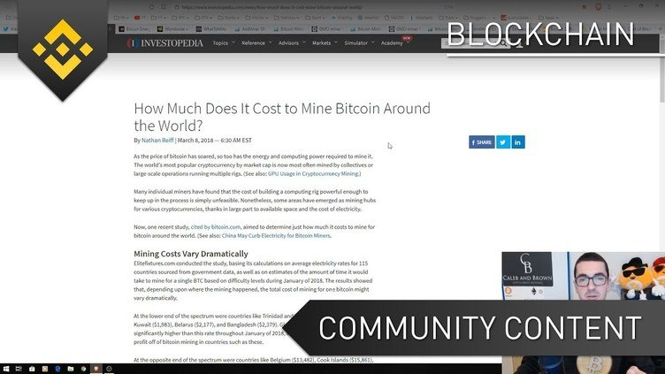 Bitcoin - The Cost of Mining